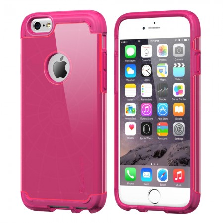 LUVVITT ULTRA ARMOR iPhone 6 / 6S Case | Dual Layer Back Cover - Neon Pink