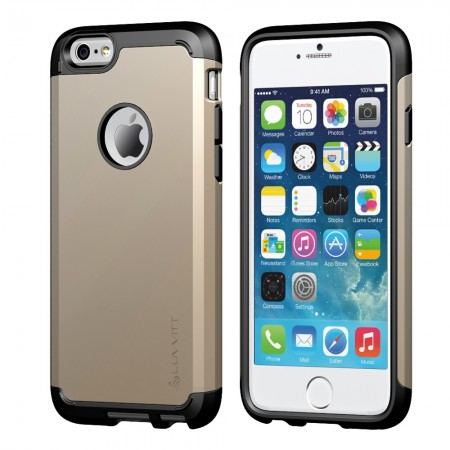 LUVVITT ULTRA ARMOR iPhone 6 / 6S Case | Dual Layer Back Cover - Gold