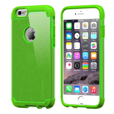 LUVVITT ULTRA ARMOR iPhone 6 / 6S Case | Dual Layer Back Cover - Neon Green