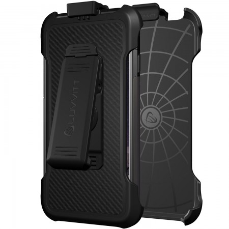 LUVVITT HOLSTER for ULTRA ARMOR iPhone 6/6s Case with Swiveling Clip and Stand - Black