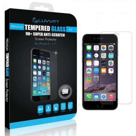 LUVVITT TEMPERED GLASS Screen Protector for iPhone 6 (4.7) - Crystal Clear