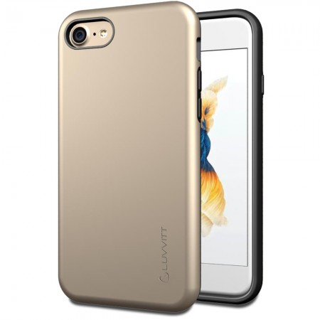 LUVVITT SUPER ARMOR Case for iPhone 7 | Dual Layer Back Cover - Gold