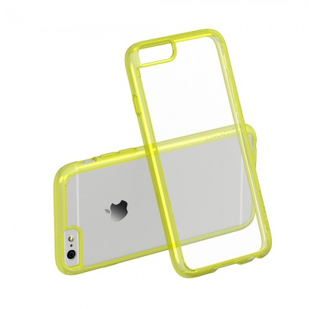 LUVVITT CLEARVIEW Case for iPhone 6S / 6 | Hybrid Back Cover - Neon Yellow