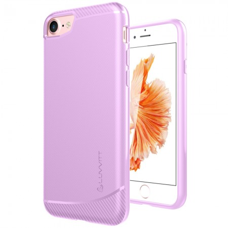 LUVVITT SLEEK ARMOR Case Shock Absorbing Flexible TPU Cover for iPhone 7 - Pink