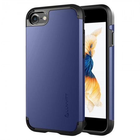 LUVVITT ULTRA ARMOR Case for iPhone 7   Dual Layer Back Cover - Space Blue