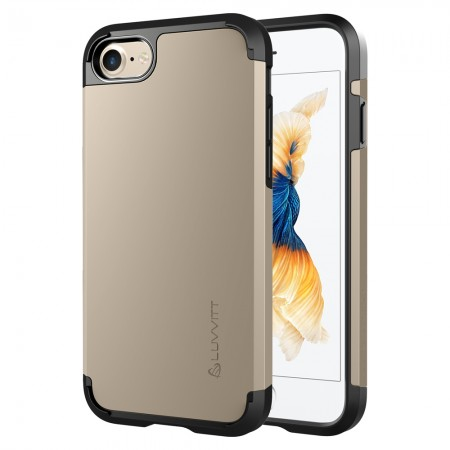 LUVVITT ULTRA ARMOR Case for iPhone 7 | Dual Layer Back Cover - Gold