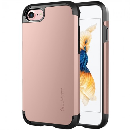 LUVVITT ULTRA ARMOR Case for iPhone 7   Dual Layer Back Cover - Rose Gold