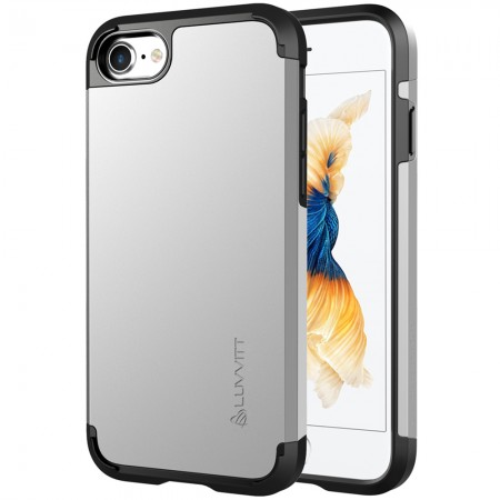 LUVVITT ULTRA ARMOR Case for iPhone 7   Dual Layer Back Cover - Silver