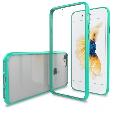 LUVVITT CLEARVIEW Case for iPhone 7 | Hybrid Back Cover - Mint Green