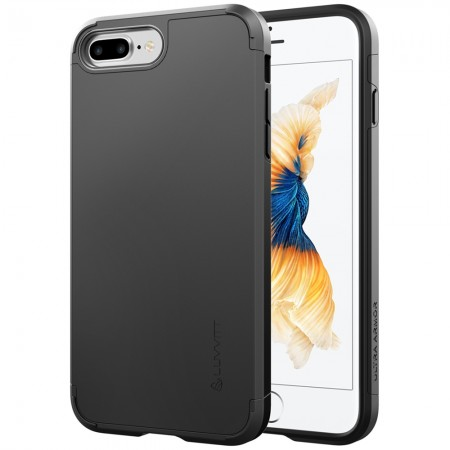 LUVVITT ULTRA ARMOR iPhone 7 PRO Case | Dual Layer Back Cover - Black