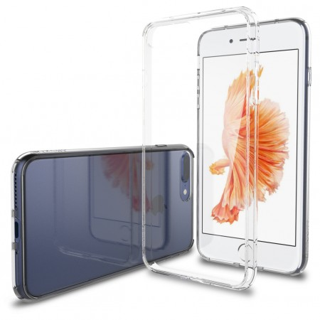 LUVVITT CLEARVIEW Case for iPhone 7 PRO | Hybrid Back Cover - Crystal Clear