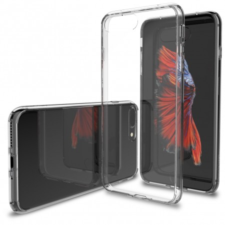 LUVVITT CLEARVIEW Case for iPhone 7 PLUS | Hybrid Back Cover - Crystal Clear