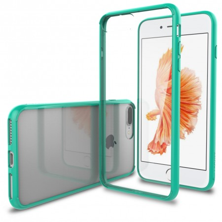 LUVVITT CLEARVIEW Case for iPhone 7 PLUS | Hybrid Back Cover - Mint Green