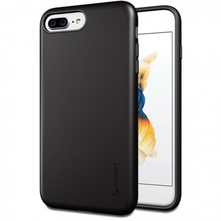 LUVVITT SUPER ARMOR Case for iPhone 7 PLUS | Dual Layer Back Cover - Black