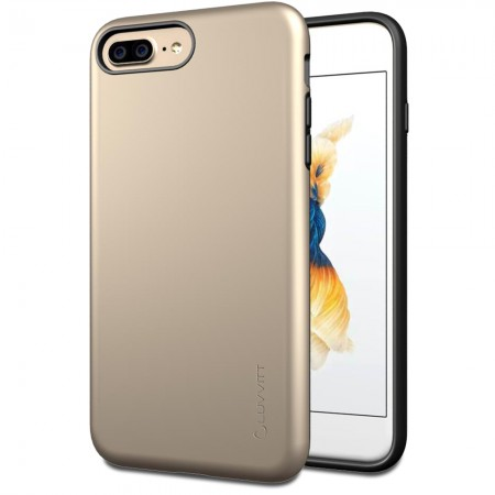 LUVVITT SUPER ARMOR Case for iPhone 7 PLUS | Dual Layer Back Cover - Gold