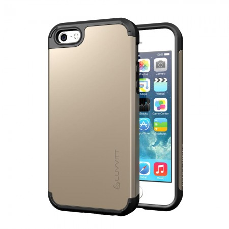 LUVVITT ULTRA ARMOR iPhone SE Case | Dual Layer Back Cover - Champagne Gold