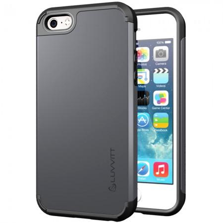 LUVVITT ULTRA ARMOR iPhone SE Case | Dual Layer Back Cover - Gunmetal