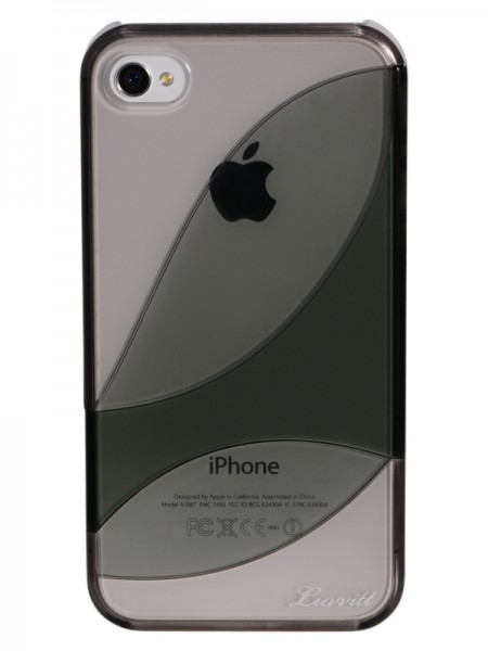 LUVVITT LEAF Case for iPhone 4 & 4S - Gray/Black