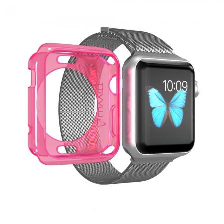 LUVVITT CLARITY Apple Watch Case 42mm - Neon Pink