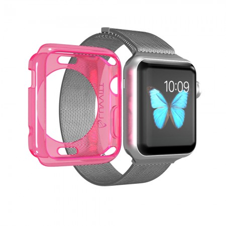 LUVVITT CLARITY Apple Watch Case 38mm - Transparent Neon Pink