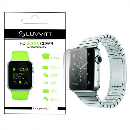 LUVVITT HD ULTRA CLEAR Screen Protector for Apple Watch 42mm (3x Pack) - Clear