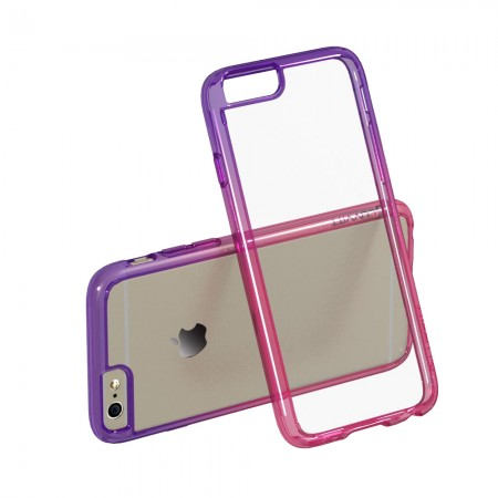 LUVVITT® CLEARVIEW Case for iPhone 6 | Back Cover for iPhone 6 - Pink / Purple