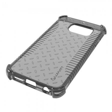 LUVVITT CLEAR GRIP Galaxy S6 EDGE Case | Slim Transparent TPU Case - Black
