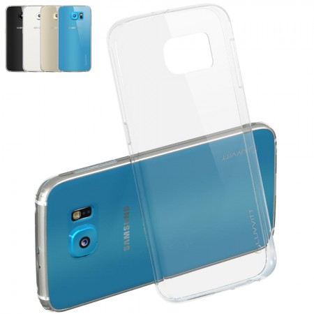 LUVVITT ULTRA SLIM Galaxy S6 Case | Transparent TPU Rubber Back Cover