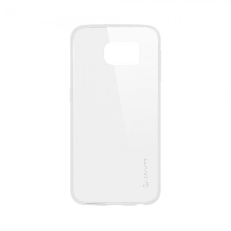 LUVVITT ULTRA SLIM Galaxy S6 Case | Transparent TPU Rubber Back Cover - Clear