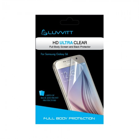 LUVVITT HD ULTRA CLEAR Screen Protector for Galaxy S6 - Crystal Clear