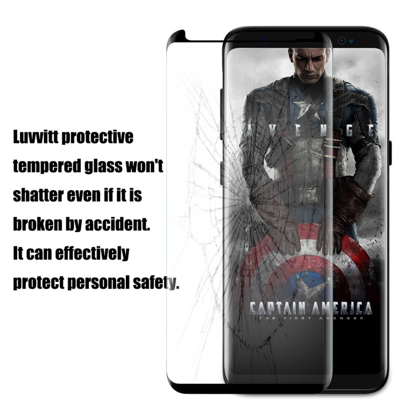 how to clean glass screen protector s8