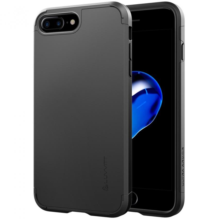 iPhone 7 Plus Case, LUVVITT [Ultra Armor] Shock Absorbing Case Best Heavy Duty Dual Layer Tough