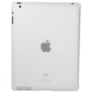 LUVVITT GLAZE Smooth Finish Hard Back Comp.w/Smart Cover for iPad 2/3/4 Frost