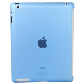 LUVVITT GLAZE Smooth Finish Hard Back Comp.w/Smart Cover for iPad 2/3/4 - Blue