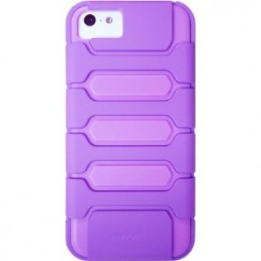 LUVVITT ARMOR SHELL Double Layer Shock Absorbing Case for iPhone 5C - Purple