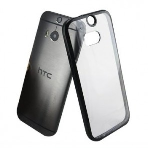 LUVVITT CLEARVIEW HTC One M8 Case | Transparent Case / Cover - Clear | Black