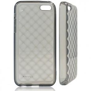LUVVITT 3D JEWEL Soft Slim TPU Case / Cover for iPhone 5C - Transparent Black