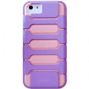 LUVVITT ARMOR SHELL Dual Layer Case for iPhone 5C - Purple / Pink