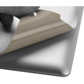 LUVVITT SILVERBACK Skin for iPad Air - Comp. with Smart Cover -Silver