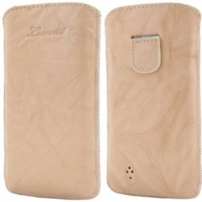 LUVVITT Genuine Leather Pouch for Samsung Galaxy S4 - Beige