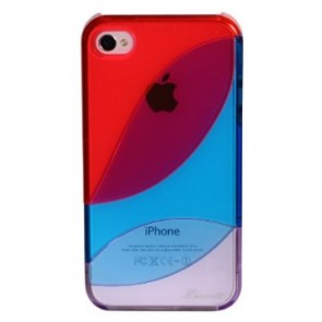 LUVVITT LEAF Case for iPhone 4 & 4S - Red/Blue/Purple