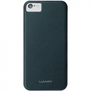 LUVVITT SKINNY Matte Slim Hard Case Back Cover for Apple iPhone 5C - Black