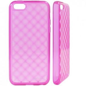 LUVVITT 3D JEWEL Soft Slim TPU Case / Cover for iPhone 5 C - Transparent Pink