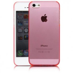 LUVVITT CRYSTAL VIEW Hard Shell Back Hard Case for iPhone 5 / 5S Crystal Clear Pink