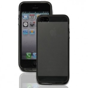 LUVVITT FROST Soft Slim Clear Case / Back Cover for iPhone 5 / 5S - Black