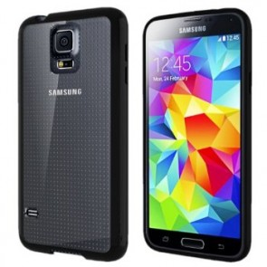 LUVVITT CLEARVIEW Case for Samsung Galaxy S5 | Bumper with Back Cover - Black