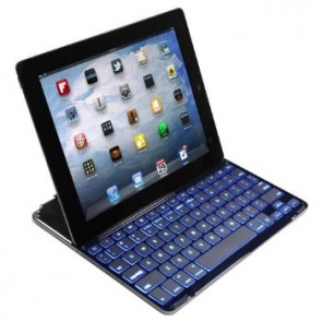 LUVVITT BACKLIT Ultrathin Keyboard Cover 7 COLR BACKLIGHT for iPad 4/3/2 White