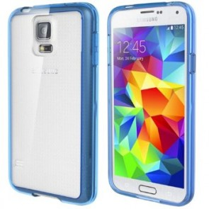 LUVVITT CLEARVIEW Case for Samsung Galaxy S5 | Bumper with Back Cover - Blue