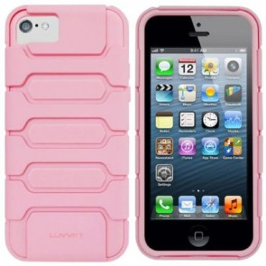 LUVVITT ARMOR SHELL Double Layer Shock Absorbing Case for iPhone 5C - Pink