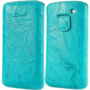 LUVVITT Genuine Leather Pouch for Samsung Galaxy S3 SIII - Turquoise
